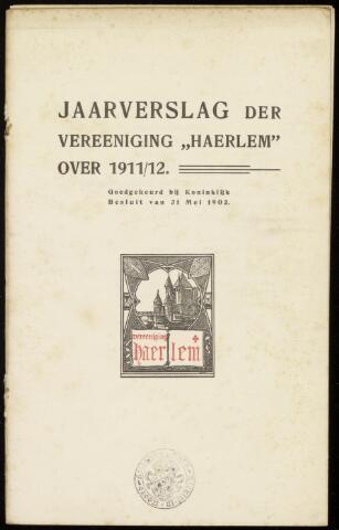 Jaarverslagen en Jaarboeken Vereniging Haerlem 1911