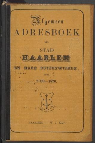 Adresboeken Haarlem 1869