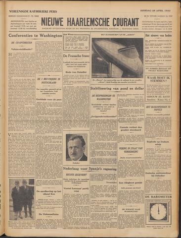Nieuwe Haarlemsche Courant 1933-04-25