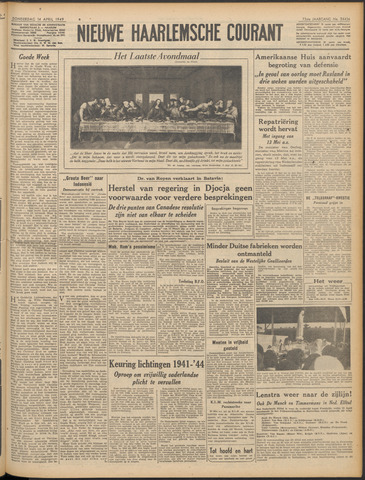 Nieuwe Haarlemsche Courant 1949-04-14