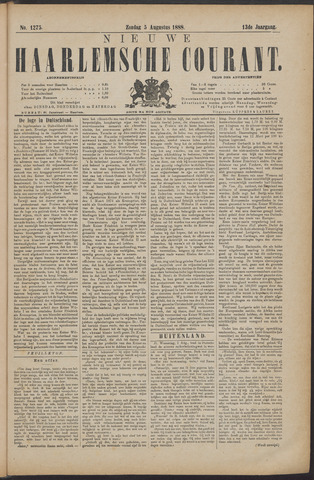 Nieuwe Haarlemsche Courant 1888-08-05