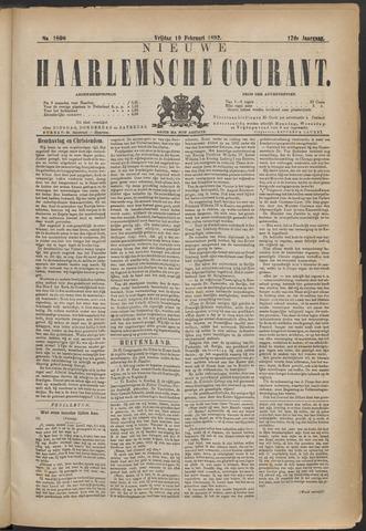 Nieuwe Haarlemsche Courant 1892-02-19