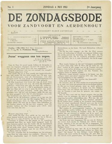 De Zondagsbode voor Zandvoort en Aerdenhout 1913-05-04