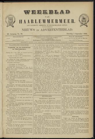 Weekblad van Haarlemmermeer 1885-09-05