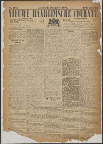 Nieuwe Haarlemsche Courant 1894-12-23