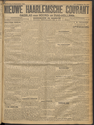 Nieuwe Haarlemsche Courant 1916-09-14