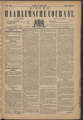 Nieuwe Haarlemsche Courant 1893-03-26