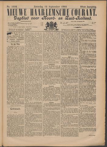 Nieuwe Haarlemsche Courant 1903-09-12