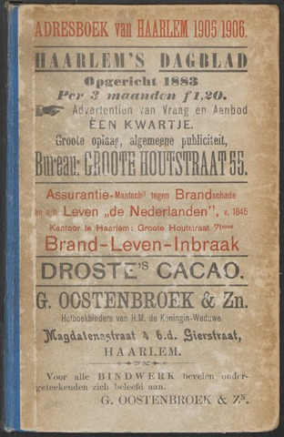Adresboeken Haarlem 1905