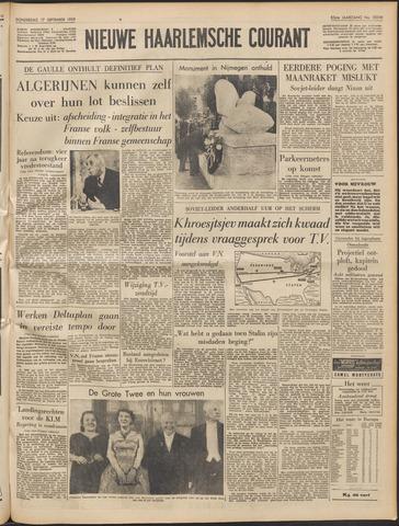 Nieuwe Haarlemsche Courant 1959-09-17