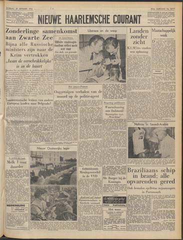 Nieuwe Haarlemsche Courant 1956-09-29
