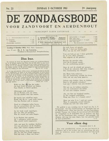 De Zondagsbode voor Zandvoort en Aerdenhout 1913-10-05