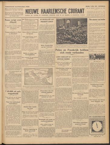 Nieuwe Haarlemsche Courant 1939-04-07