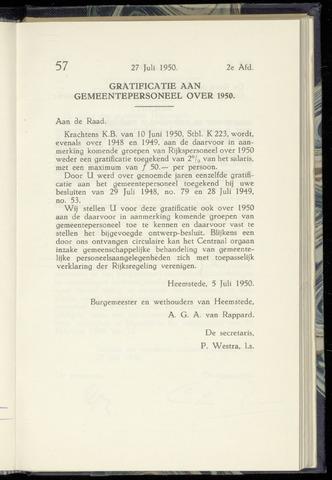 Raadsnotulen Heemstede 1950-07-27