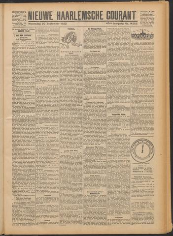 Nieuwe Haarlemsche Courant 1922-09-20