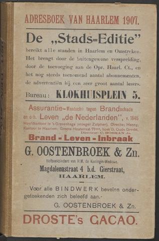 Adresboeken Haarlem 1907