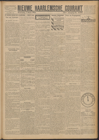 Nieuwe Haarlemsche Courant 1923-03-07