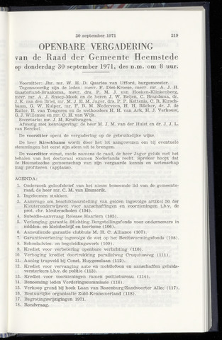 Raadsnotulen Heemstede 1971-09-30