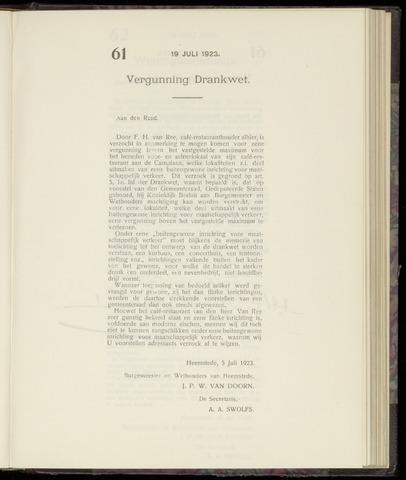 Raadsnotulen Heemstede 1923-07-19