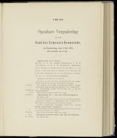Raadsnotulen Heemstede 1913-05-08