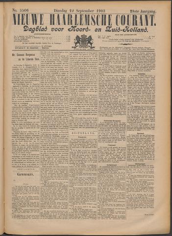 Nieuwe Haarlemsche Courant 1903-09-29