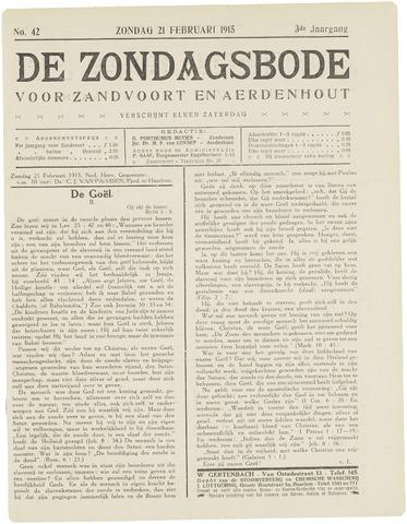 De Zondagsbode voor Zandvoort en Aerdenhout 1915-02-21