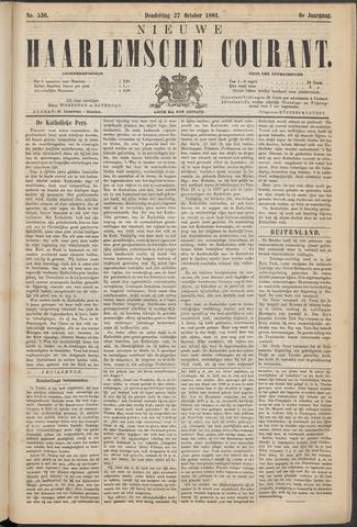 Nieuwe Haarlemsche Courant 1881-10-27