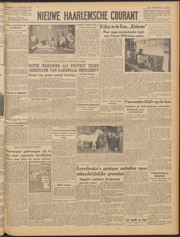 Nieuwe Haarlemsche Courant 1949-02-02