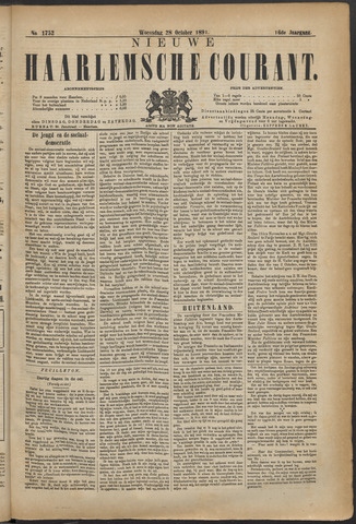 Nieuwe Haarlemsche Courant 1891-10-28