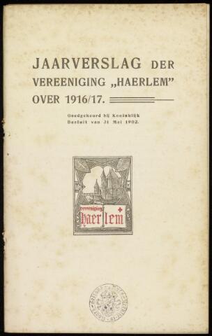 Jaarverslagen en Jaarboeken Vereniging Haerlem 1916