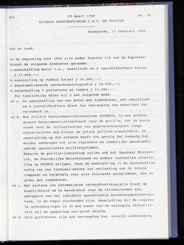 Raadsnotulen Heemstede 1990-03-29