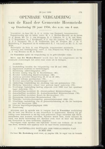 Raadsnotulen Heemstede 1956-06-28