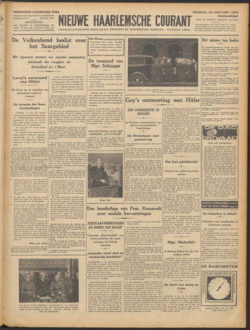 Nieuwe Haarlemsche Courant 1935-01-18