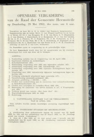 Raadsnotulen Heemstede 1952-05-29