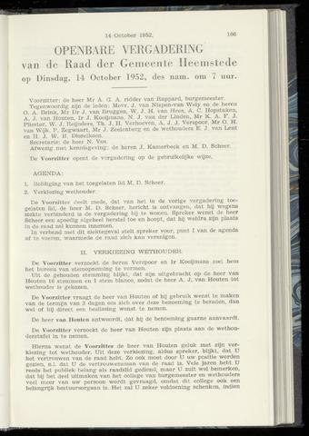 Raadsnotulen Heemstede 1952-10-14