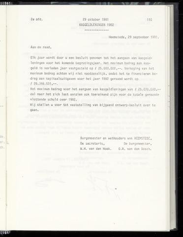 Raadsnotulen Heemstede 1981-10-29