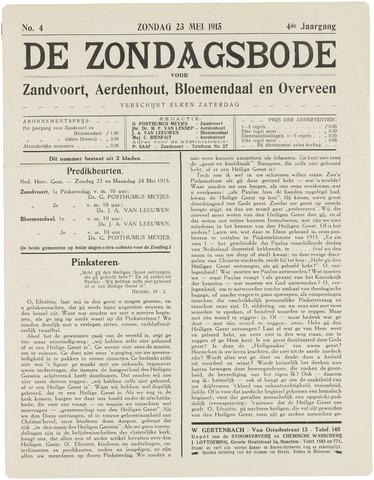 De Zondagsbode voor Zandvoort en Aerdenhout 1915-05-23