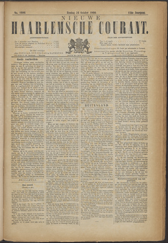 Nieuwe Haarlemsche Courant 1890-10-26