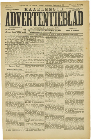 Haarlemsch Advertentieblad 1898-08-24