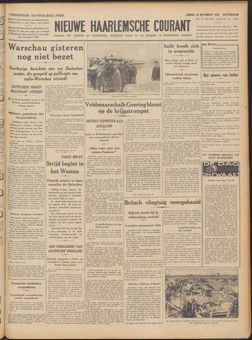 Nieuwe Haarlemsche Courant 1939-09-10