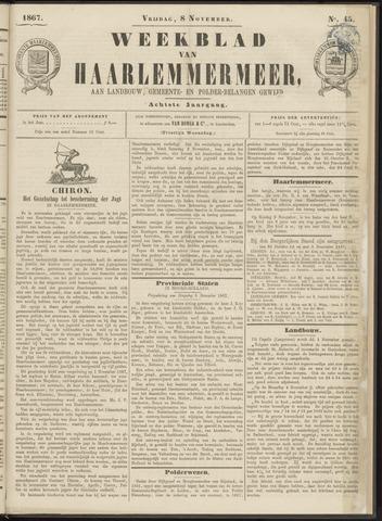 Weekblad van Haarlemmermeer 1867-11-08