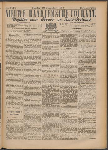 Nieuwe Haarlemsche Courant 1903-11-10