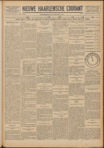 Nieuwe Haarlemsche Courant 1931-08-20