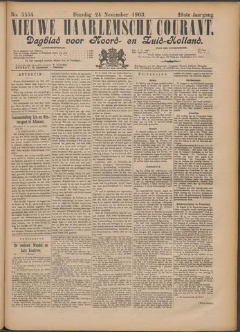 Nieuwe Haarlemsche Courant 1903-11-24
