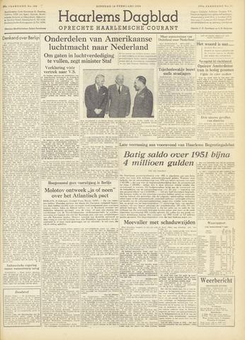 Haarlem's Dagblad 1954-02-16