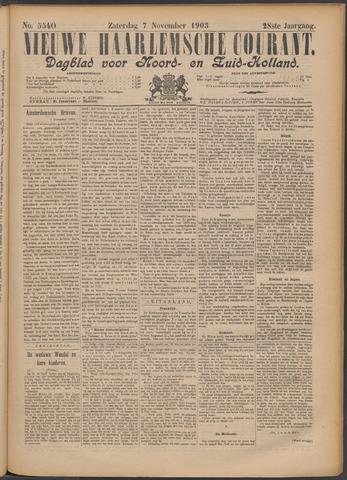 Nieuwe Haarlemsche Courant 1903-11-07
