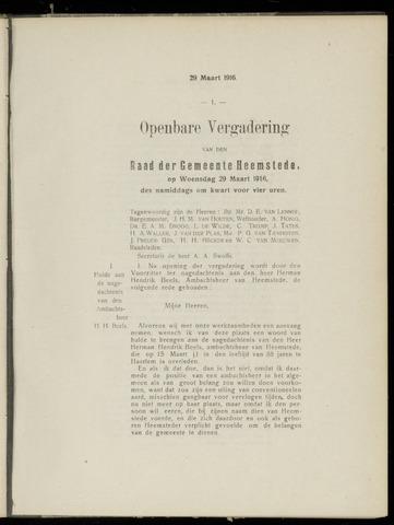 Raadsnotulen Heemstede 1916-03-29