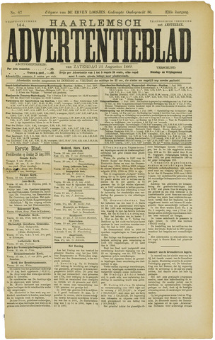 Haarlemsch Advertentieblad 1889-08-24