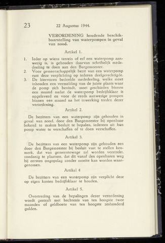 Raadsnotulen Heemstede 1944-08-22