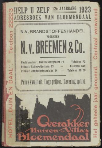 Adresboeken Bloemendaal 1923